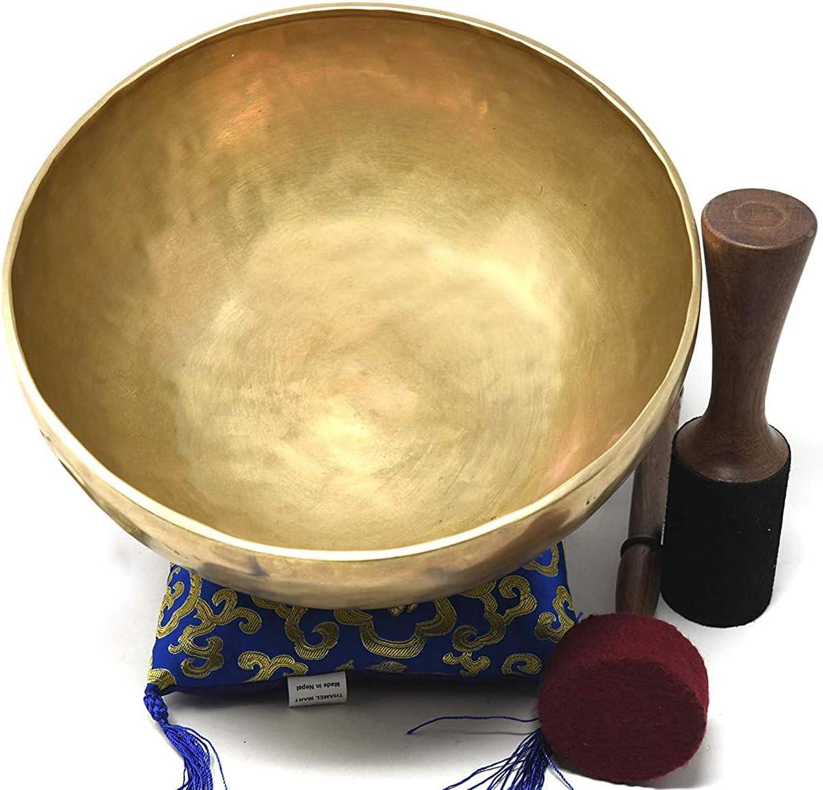 Hand Hammered Tibetan Meditation Singing Bowl 8 Inches