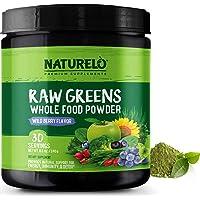 NATURELO Raw Greens Superfood Powder - Best Supplement to Boost Energy, Detox, Enhance...