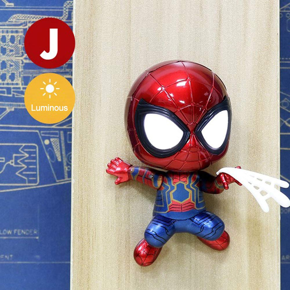J Marvel Spider-Man Heroes Return Spider-Man Jouets Personnages d'action Poupées Modèle De Voiture Secouez La Tête Avengers Alliance Full Set of 8