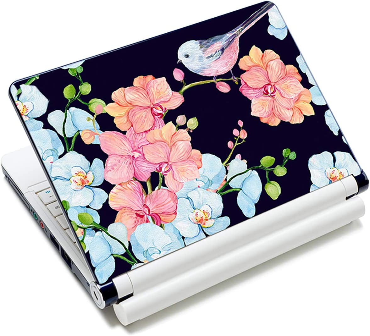 Bird & Nice Flower 12.1 13 13.3 14 15 15.4 15.6 Inches Personalized Laptop Skin Sticker Decal Universal Netbook Skin Sticker Reusable Notebook PC Art Decal Protector Cover Case by AORTDES