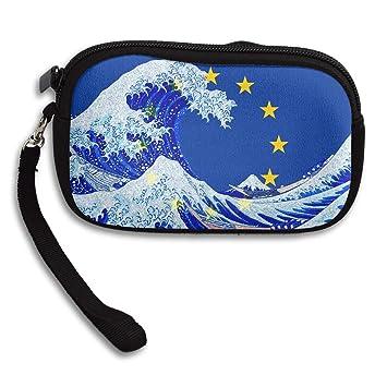 Amazon.com: Monedero de la bandera de la Unión Europea y de ...
