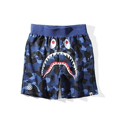 d100a1bb033a Griffith Nancy Hot 17SS A Bathing Ape Camo Shorts Shark Prints Cool Bape  Shorts S-