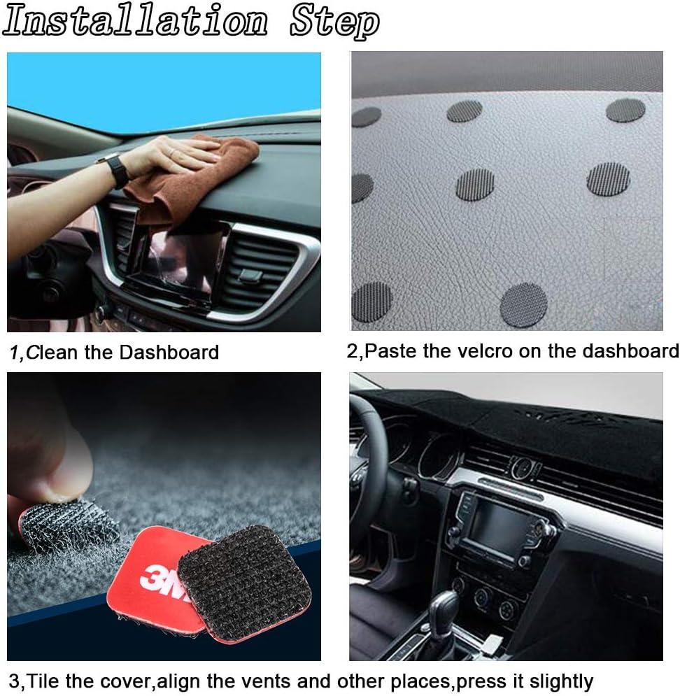 HanLanKa Dashboard Cover for Chevy Chevrolet Suburban//Tahoe 2007-2014,Chevrolet Avalanche Silverado 1500 LTZ 2007-2013,GMC Yukon 2007-2014 Dash Cover Mat Premium Carpet, Black