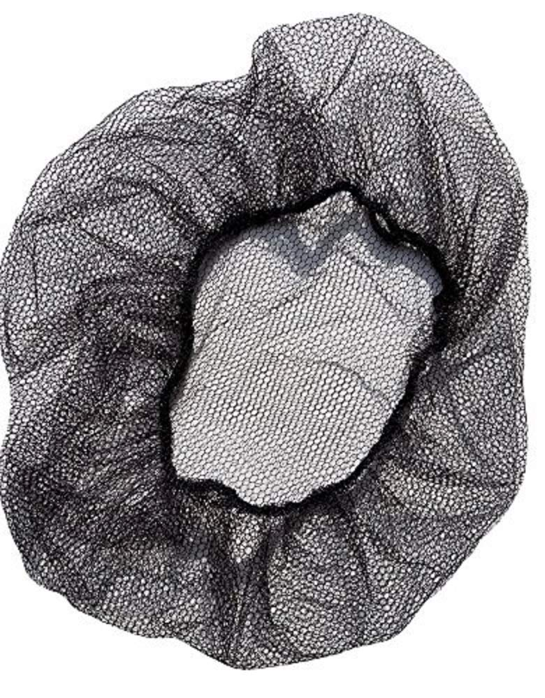 """1440 Pack Black Thin Nylon Hairnets 28"""" size. Disposable black hairnets. Protective Hair Nets with Elastic Edge. Stretchable Hairnet Caps for Non-Medical Use. Lightweight, Breathable. Wholesale price. by ABC Pack & Supply (Image #1)"""