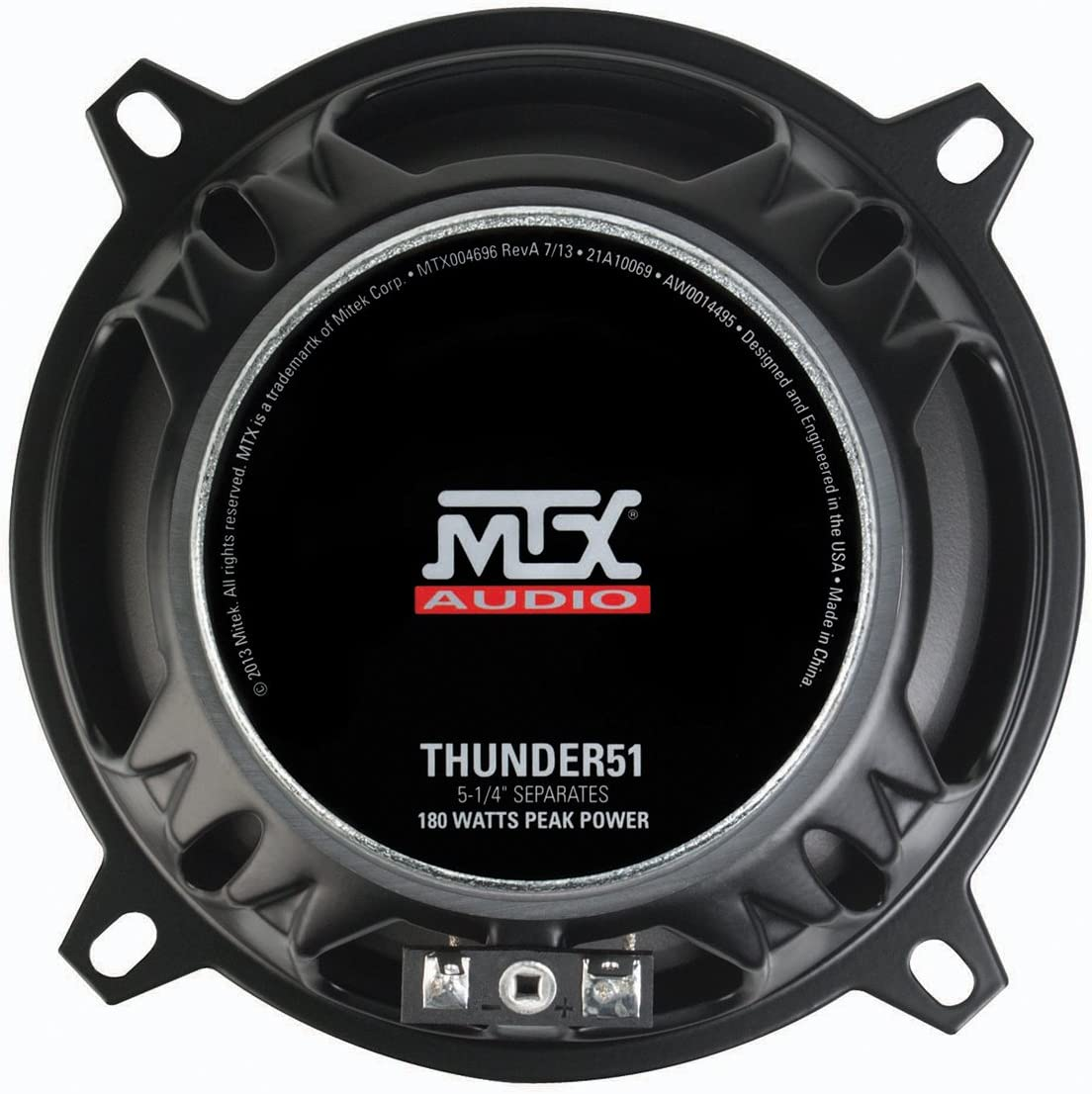 Set of 2 MTX Audio THUNDER681 Ohm Component Speaker
