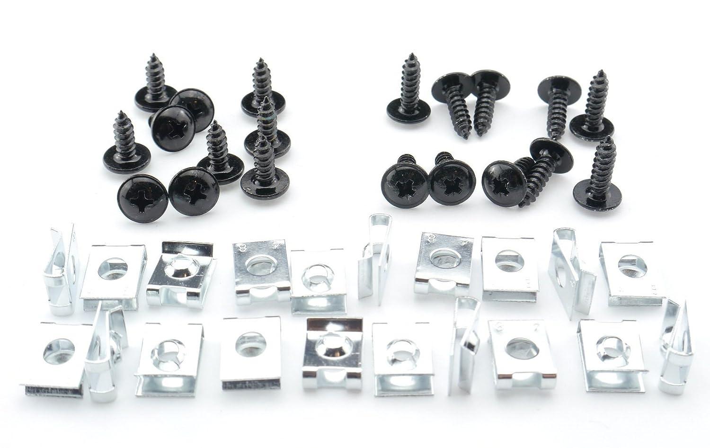 Tech-Parts-Koeln Schrauben Verkleidung Clipse 4mm Roller Quad Motorrad M4 schwarz Klemmen Satz