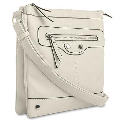b7ed63521ea4c CASPAR Damen Umhänge Tasche AMELIE Handtasche   Schultertasche Messenger Bag  - TS920