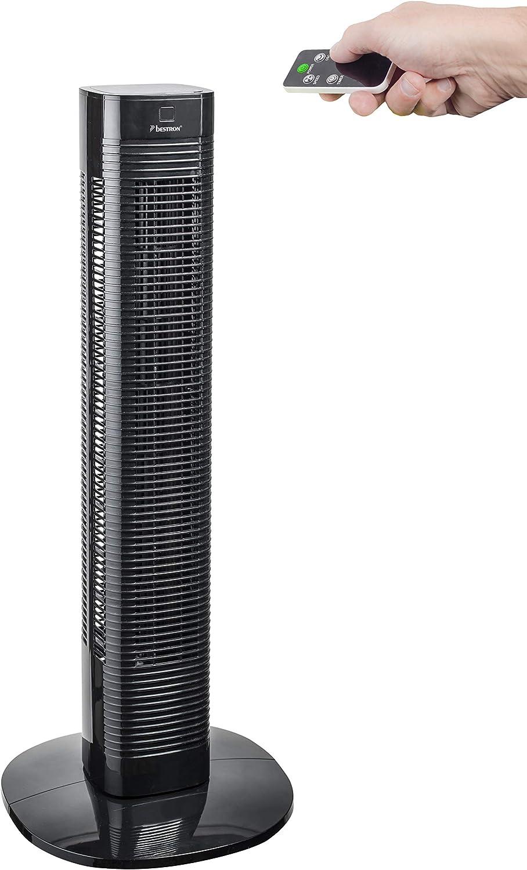 Bestron AFT80ZRC Ventilatore a Torre Nero