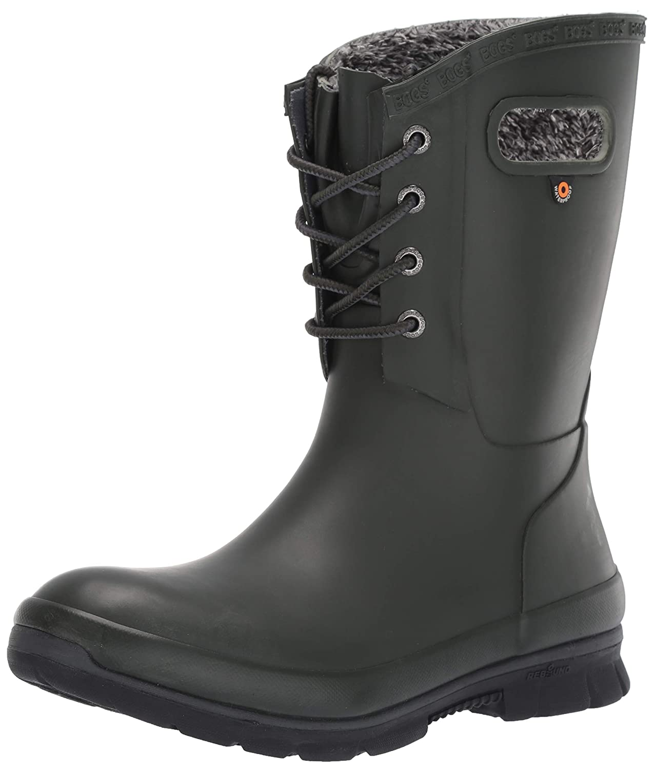 Dark Green Bogs Women's Amanda Plush Snow Boot