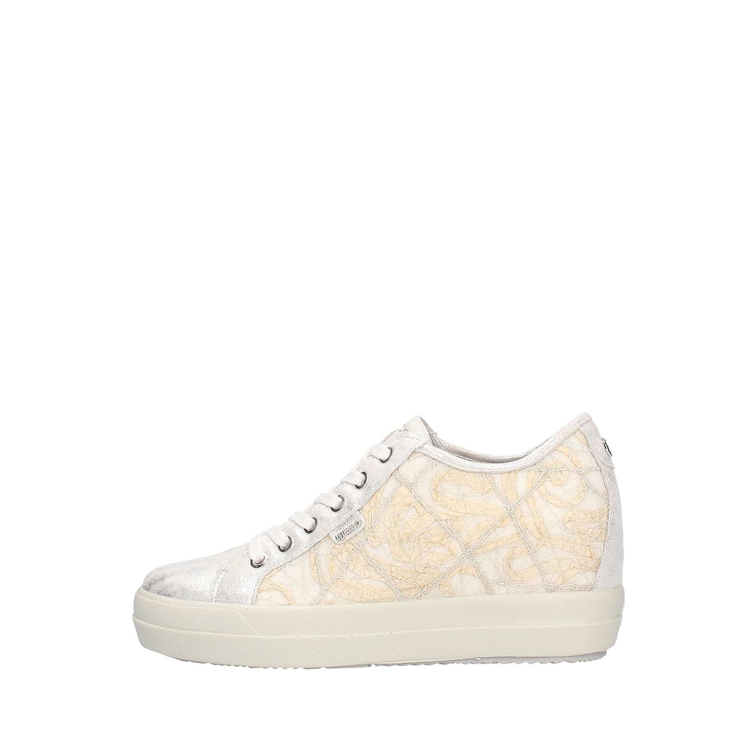 IGI&Co Frauen-Niedrige Schuhe mit Keil Turnschuhe 1150111 Weiß