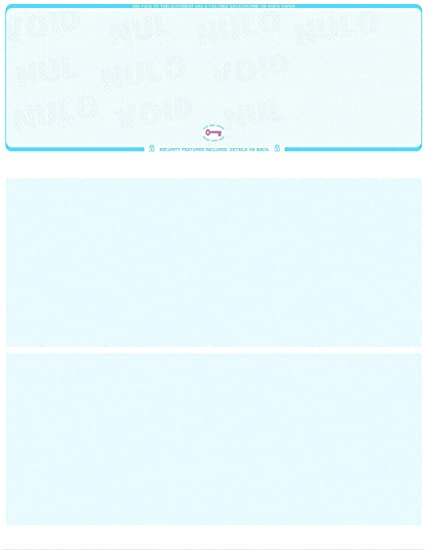 Amazon com : 2000 Blank Check Paper Blue Marble Check on Top