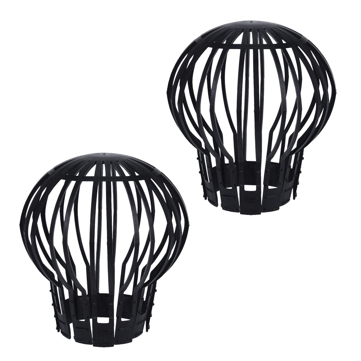 2 x Drainpipe Gutter Leaf Filter Guard Down Pipe Debris Moss Balloon Protection