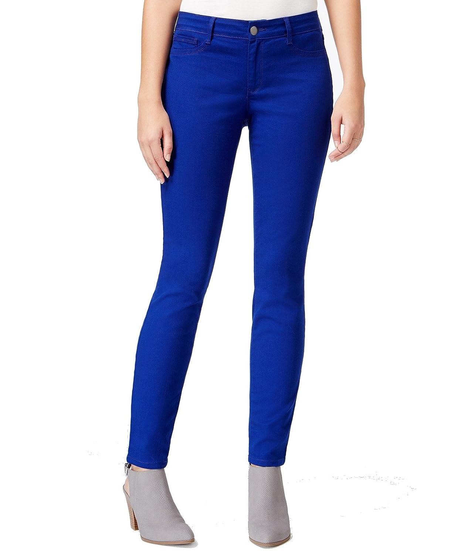 Maison Jules Sapphire Blue Womens Stretch Skinny Leg Jeans