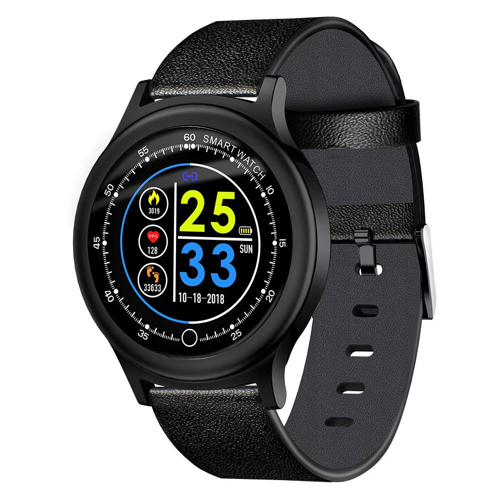 Fitness Tracker Sports Smart Watch for Men Women with Heart Rate Blood Pressure Sleep Monitor IP68 Waterproof Activity Tracker Calorie Pedometer ...
