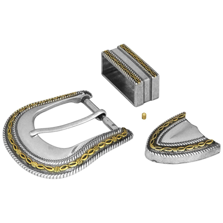 レザーファクトリー レンジャーバックル 7895-10 38mm ニッケル&ゴールド 1172102   B0055OZT1G