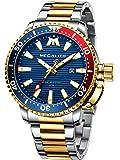MEGALITH Relojes Hombre Acero Inoxidable Reloj Pulsera Analógicos Grande Impermeable Luminosa Diseño Relojes para Hombre…