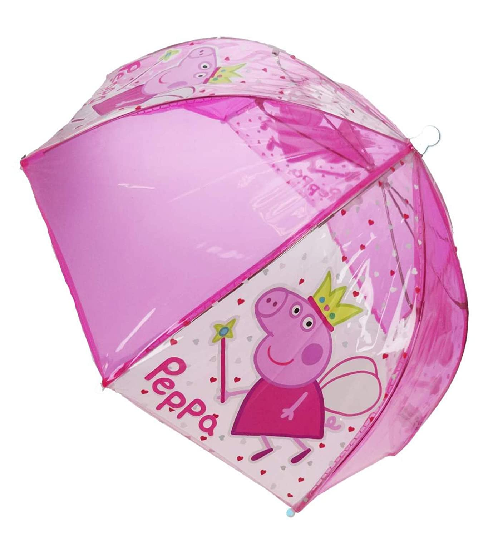 Colores surtidosNo se puede elegir PEPPA PIG color rosa o p/úrpura Paraguas infantil transparente