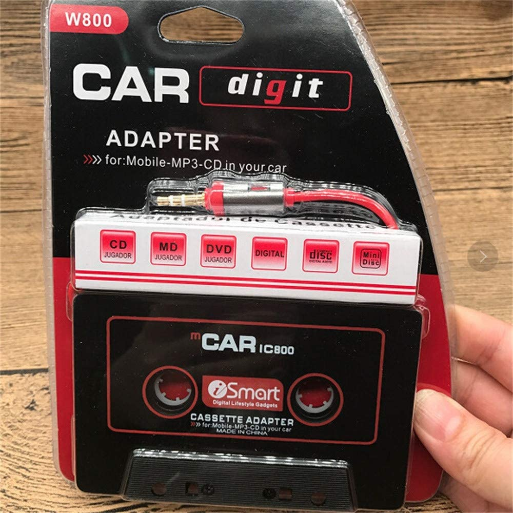 On-board Magnetic Adapter Phone Audio Converter Pausseo Car Audio Tape Cassette Adapter