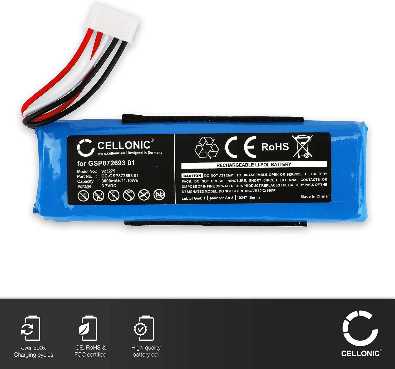 Flip 4 Special Edition CELLONIC/® Qualit/äts Akku kompatibel mit JBL Flip 4 GSP872693 01 3000mAh Ersatzakku Batterie