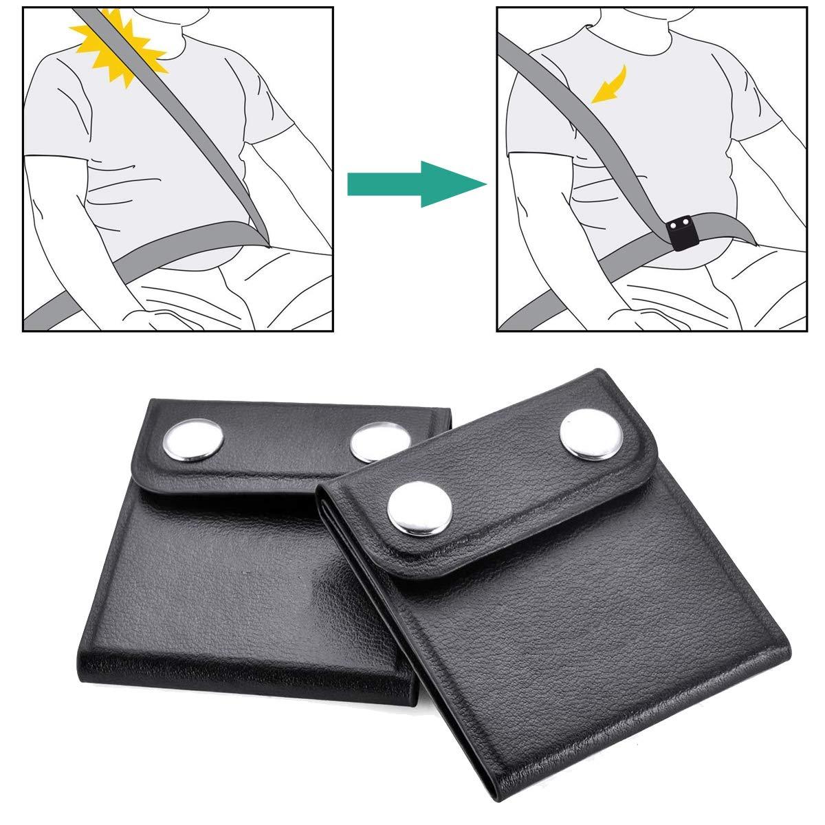 Regolatore della Cintura di Sicurezza - WENTS 2 Pezzi Posizionatore cintura per seggiolino auto per rilassare il collo della spalla, supporto di sicurezza per bambini, forniture per auto confortevoli