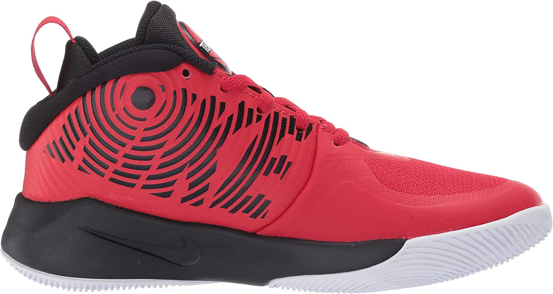 Nike Team Hustle D 9 (GS), Chaussures de Basketball Mixte Adulte Multicolore University Red Black White 000