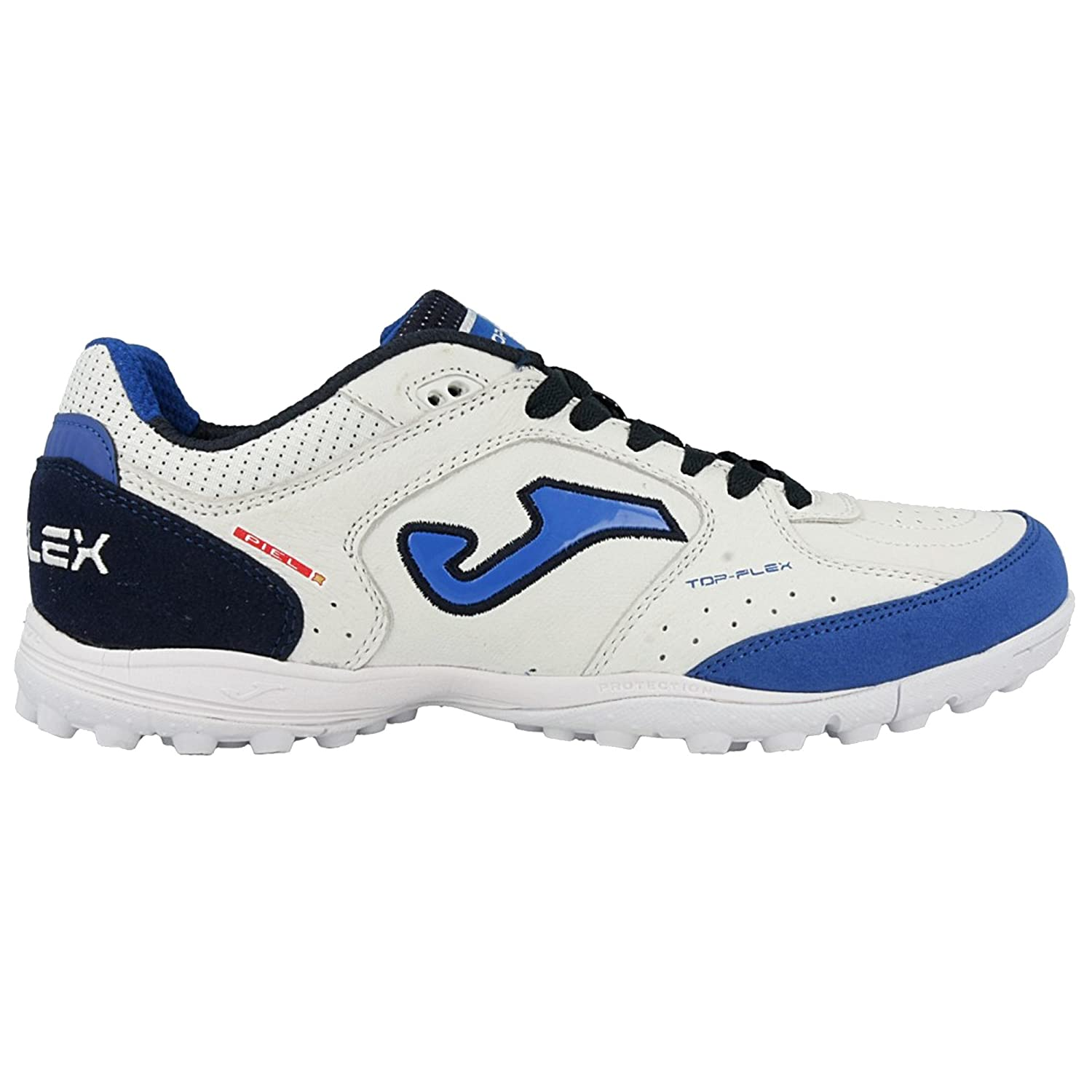 Scarpe Calcetto Joma Top Flex 820 White/Blue Turf Taglia 41