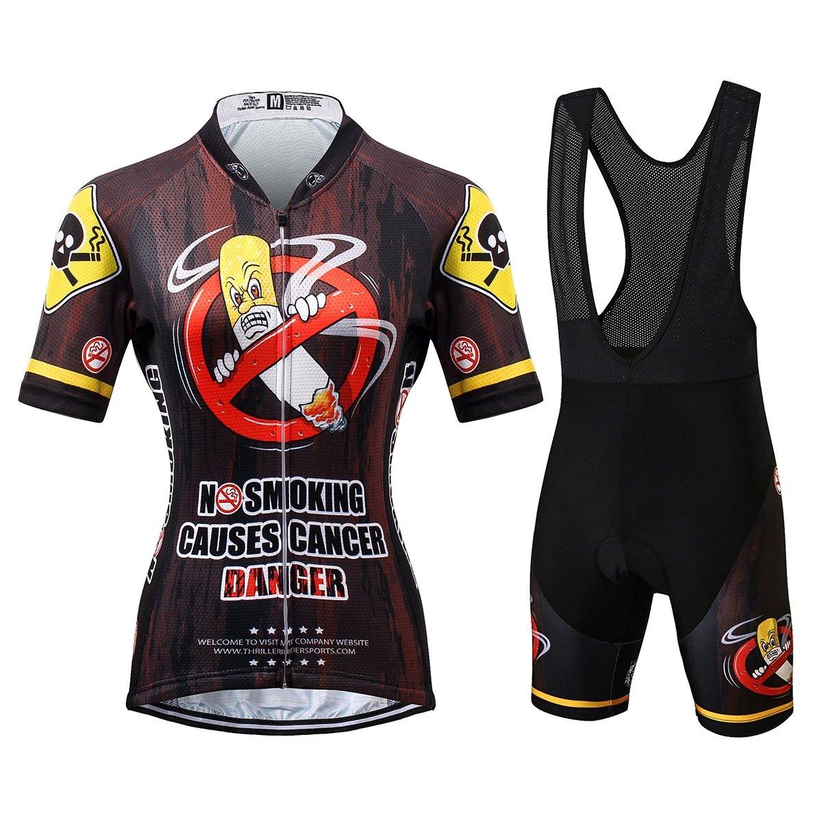 Thriller Rider Sports® Damen No Smoking Sport & Freizeit MTB Fahrradbekleidung Radtrikot
