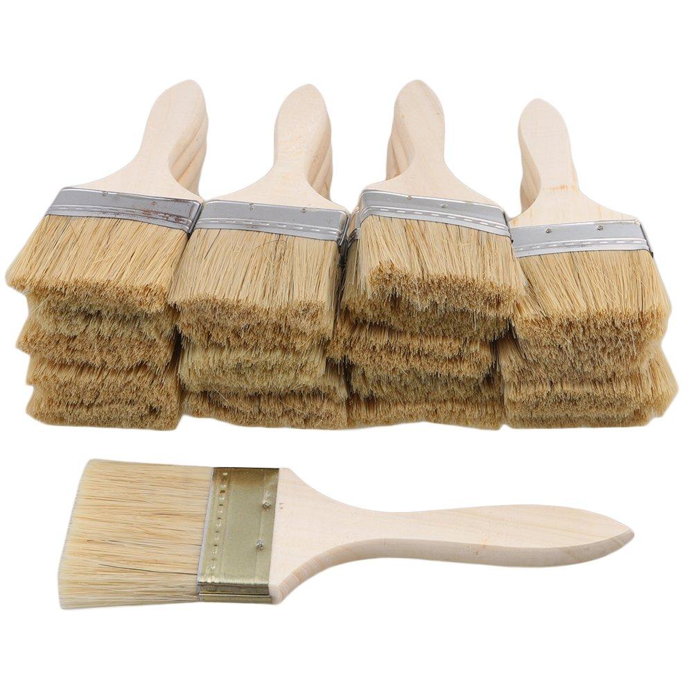 BQLZR 5,6 cm Holzpinsel fü r Farben, Ö lfarben, 0,9 mm dü nner Griff, fü r Wandmalerei, Reinigen, Staubwischen, 20 Stü ck M4170718014