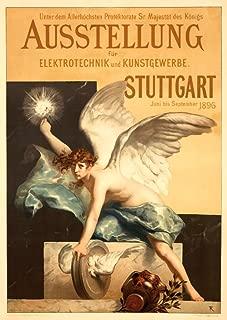 product image for Ausstellung - Stuttgart Vintage Poster (artist: Ferdinand Keller) Germany c. 1896 (24x36 Giclee Gallery Print, Wall Decor Travel Poster)