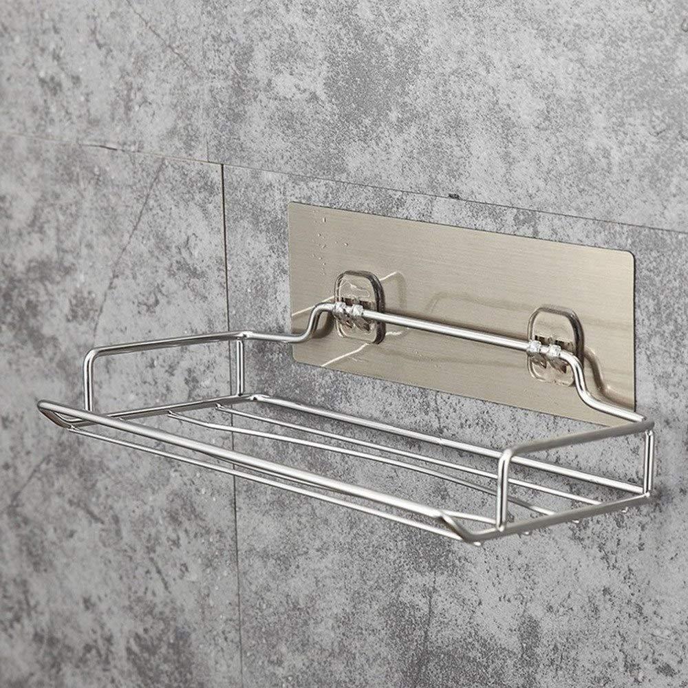 VHLL Stainless Steel Wall Mounted Toilet Paper Holder Home Bathroom Kitchen Paper Tissue Box Holder Hanger Bathroom Storage Rack