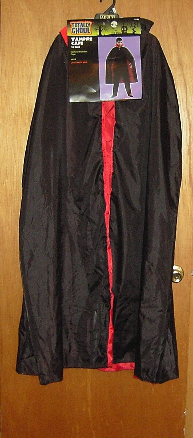 Totally Ghoul Adult Vampire Cape, 54'' Long