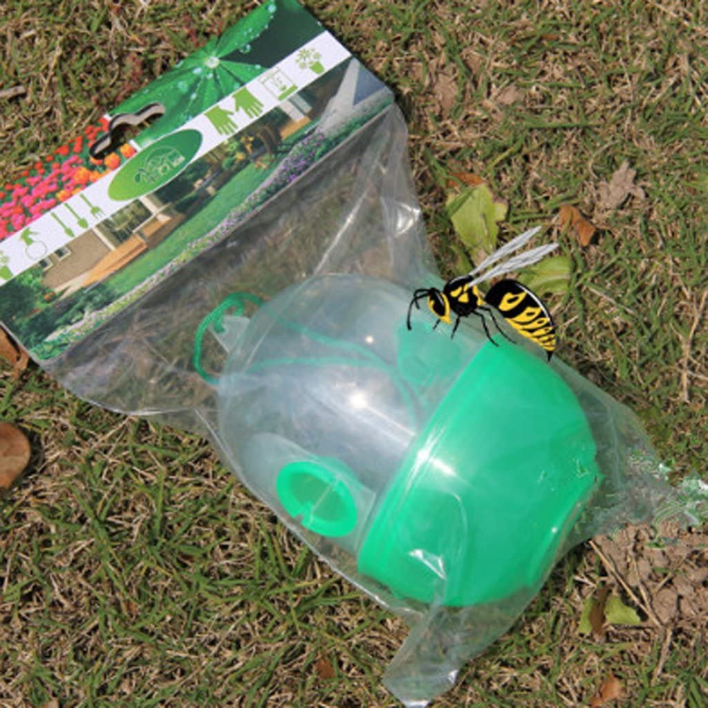 2pcs Yellow Jackets Trap Wasp Hornets and Bees Trap Natural Bee Catcher