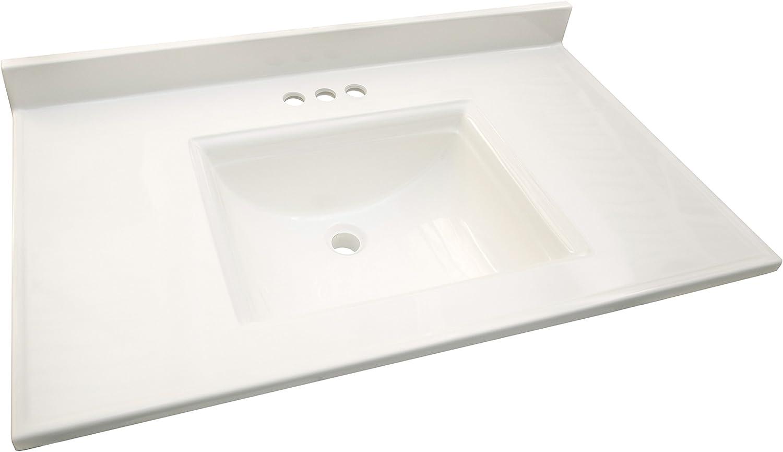 - Design House 557660 Camilla Center Vanity Top With 4 Backsplash