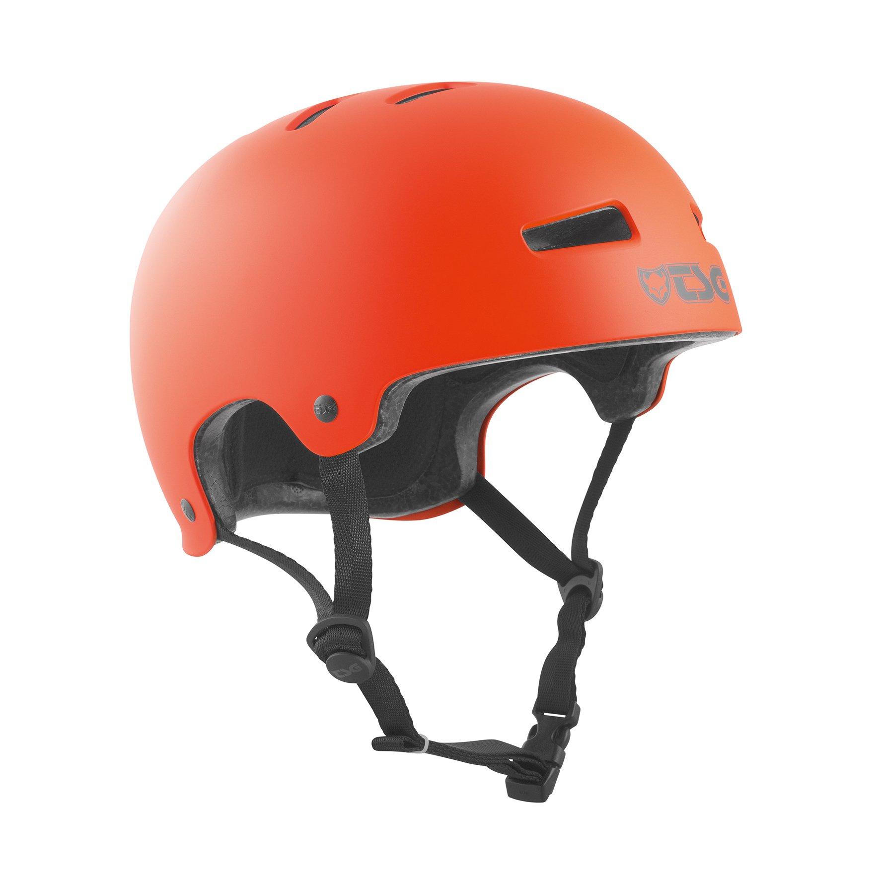 TSG - Evolution Solid Color (satin orange, S/M 54-56 cm) Helmet for Bicycle Skateboard