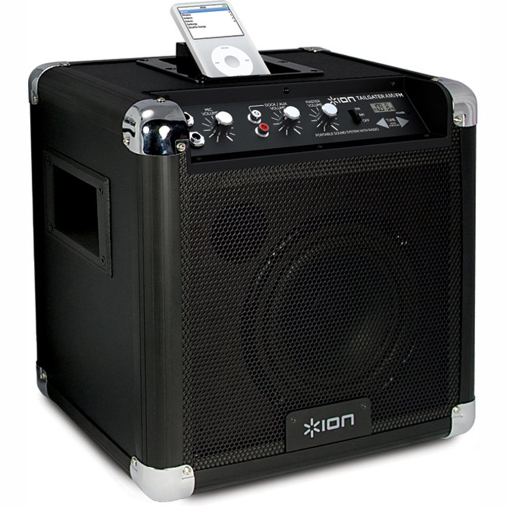 ION Tailgater AM/FM Portable Speaker System with 30-pin iPod Dock (Old Model)