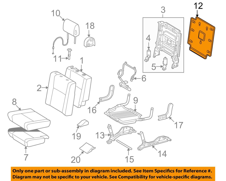 TOYOTA Genuine 71701-0C040-E0 Seat Back Board
