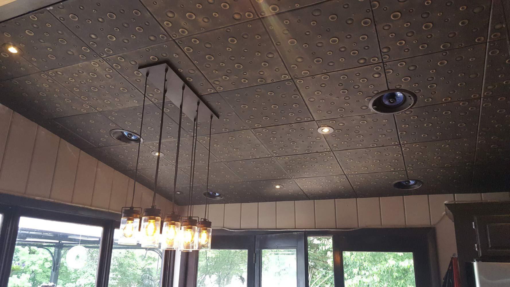 A la Maison Ceilings 1125 Bubbles - Styrofoam Ceiling Tile (Package of 8 Tiles), Plain White by A La Maison Ceilings