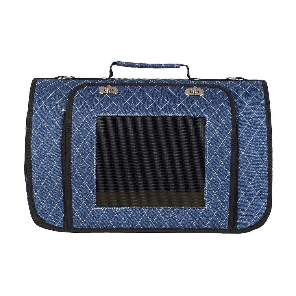 bluee M bluee M JIANXIN Pet Bag, Pet Carrier, Pet Cage, Portable, Shoulder-mounted, Suitable For Travel, With Pets To The Supermarket (color   bluee, Size   M)