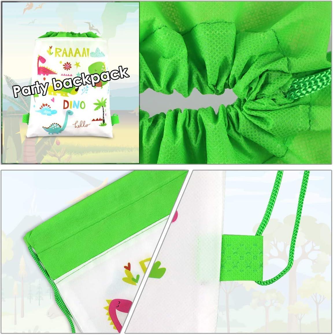 Dinosaur Birthday Party Supplies Dinosaur Party Bags for kids birthday Gift Bag Dinosaur Toys POKONBOY 24 Pack Dinosaur Party Favors Bags for Gift Bag
