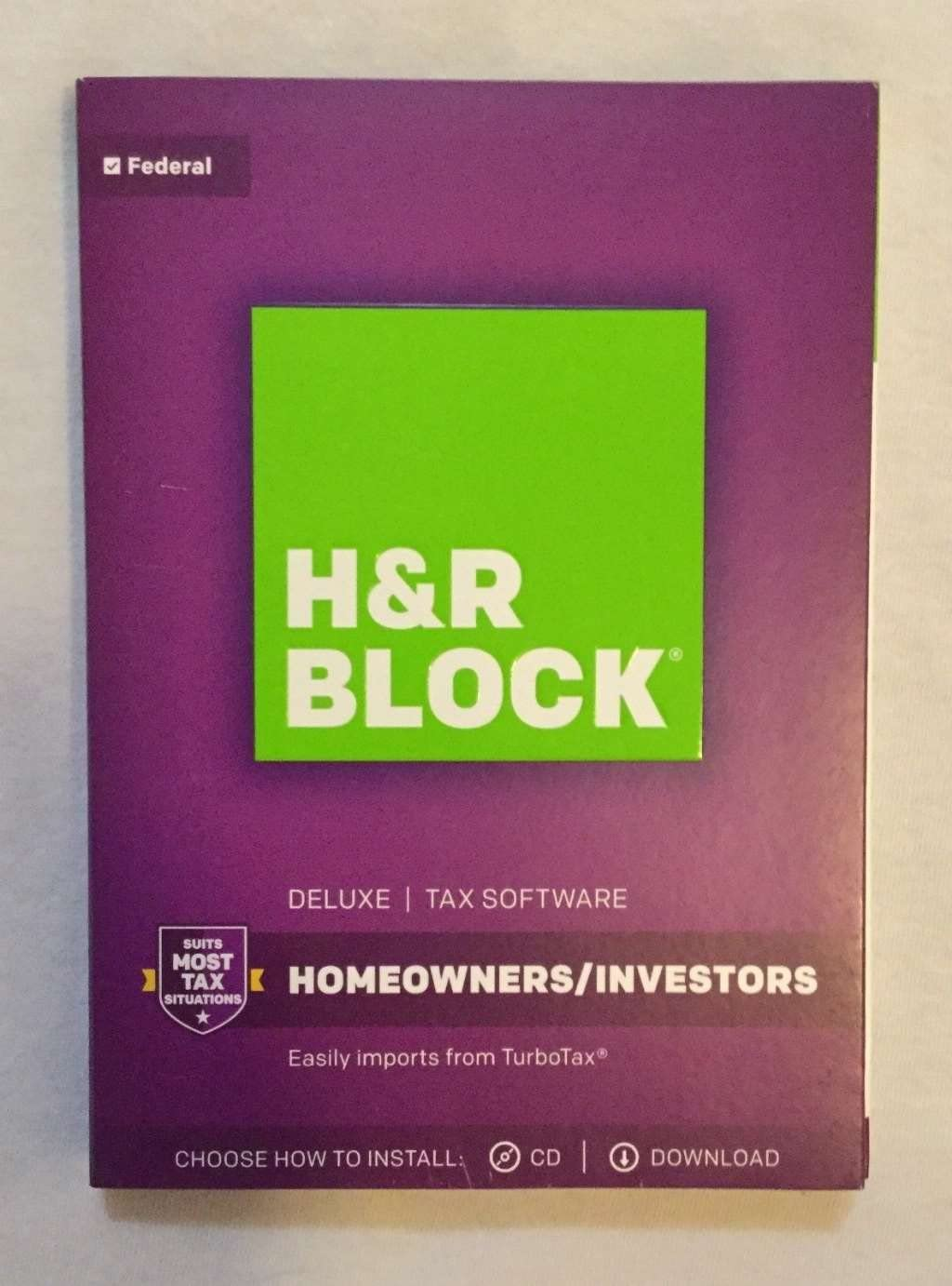 H&R Block 1433600-17 Tax Software Deluxe 2017