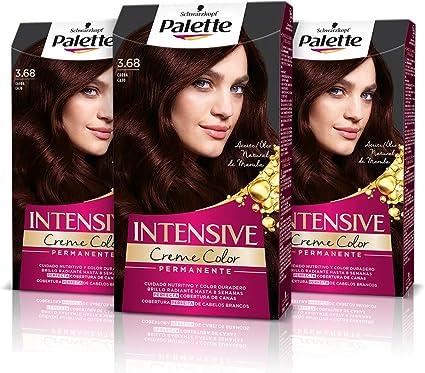Schwarzkopf Palette Intensive Creme Color, Coloración Permanente de Cuidado con Aceite de Marula, Perfecta Cobertura de Canas, Color Duradero Hasta 8 ...
