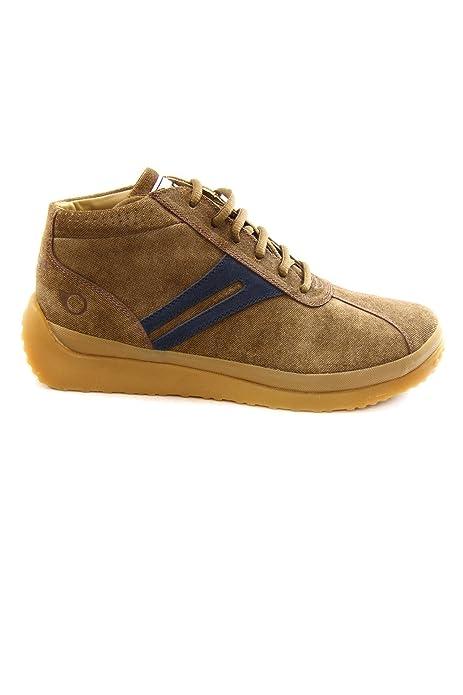 buy online 6e36e 6c0d5 Nose Leather Mid Sneakers mod. PINAG2539MZ82 Brown/Indigo ...