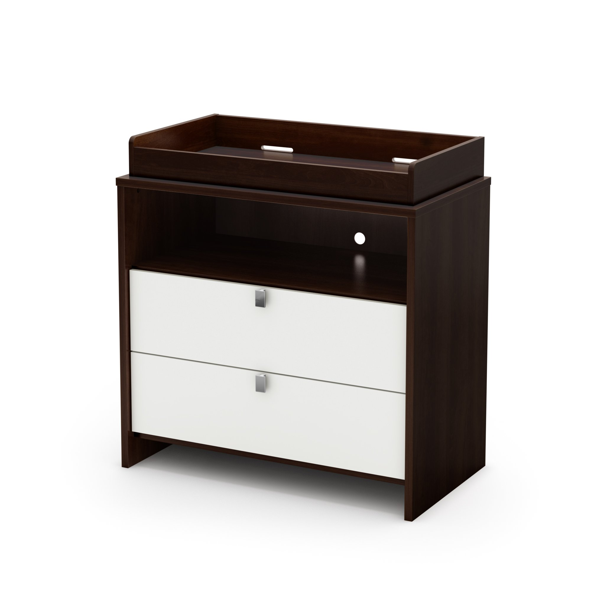 South Shore Cookie Collection Changing Table, Mocha and White