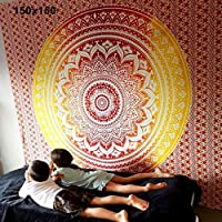Feli546Bruce tapetes para Alfombra, Mandala Bohemian Yoga Mat