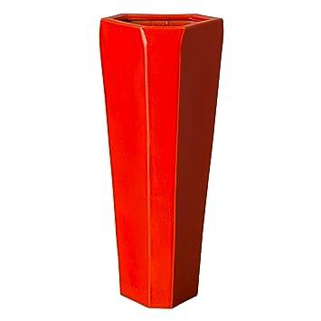 Brilliant Amazon Com Emissary Home Garden Lg Triangle Vase Coral Machost Co Dining Chair Design Ideas Machostcouk
