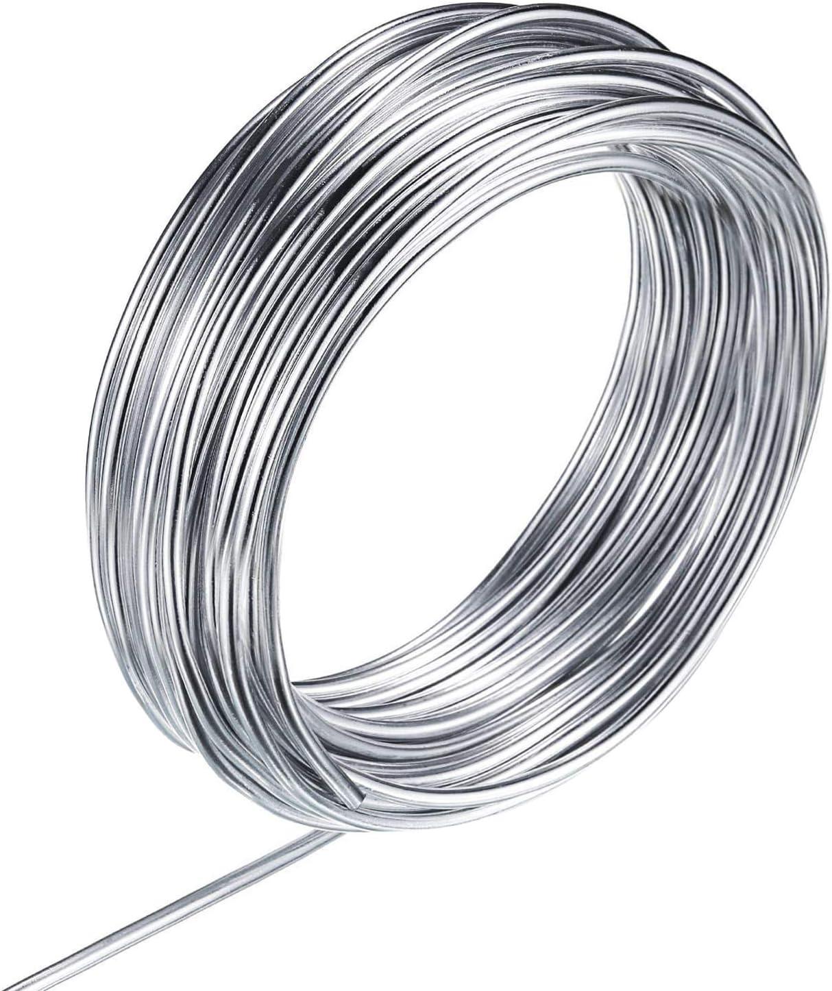 suministros de bricolaje Alambre para pulsera de alambre de aleaci/ón brazalete de alambre de memoria joyer/ía para envoltura de alambre plata y oro joyer/ía artesanal Minleer 500 Loop Jewelry