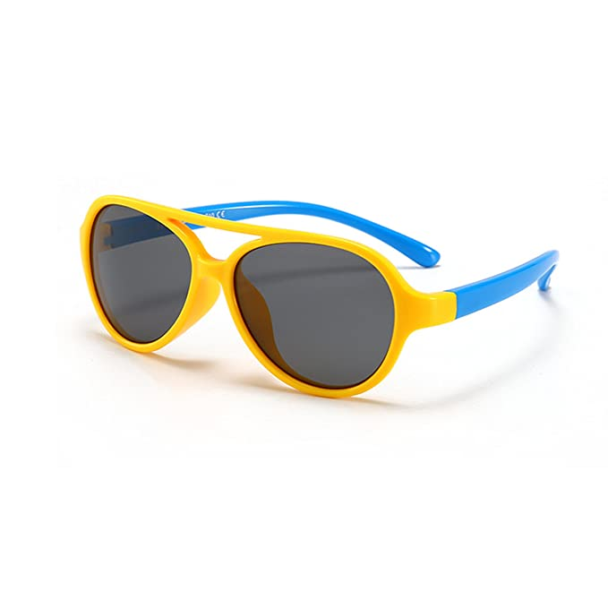 Gafas de Sol Polarizadas Aviador Niño y Niña (2-10años) Lentes UV400 Goma Flexible y Caja: Amazon.es: Ropa y accesorios