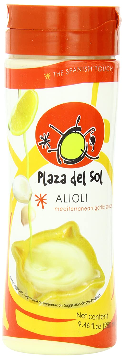 Amazon.com : Plaza del sol Alioli mediterranean garlic sauce 9.46 Ounce (Pack of 6) : Canned And Jarred Vegetables : Grocery & Gourmet Food