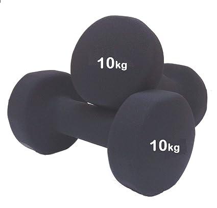 Mancuernas genéricas con Revestimiento de Neopreno, 2 Unidades, 10 kg, 2 Unidades de