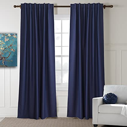 amazon com koting navy blue drapes thermal insulated blackout